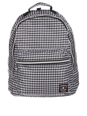 Рюкзак черный в «гусиную лапку» | 5729920