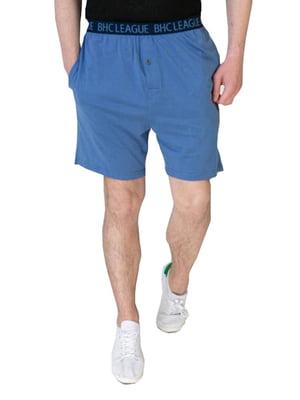 Шорти спортивні сині з логотипом | 5730033