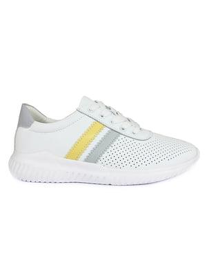 Кросівки білі з логотипом | 5735199