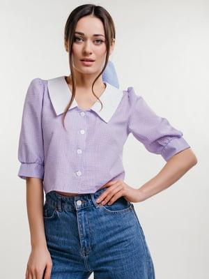 Блуза сиреневого цвета | 5735654