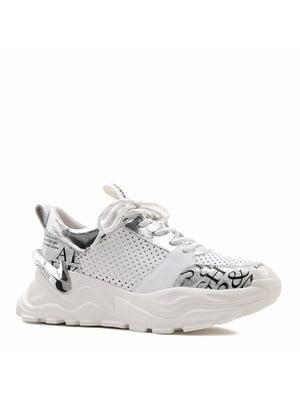 Кросівки білі з логотипом | 5735740
