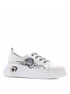 Кросівки білі з принтом | 5735936