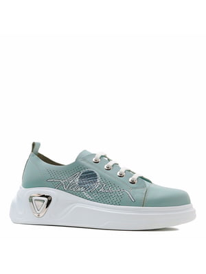 Кросівки м'ятного кольору з принтом | 5735937