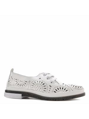 Туфлі білі з перфорацією | 5736020