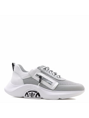 Кросівки сірі з логотипом | 5736056