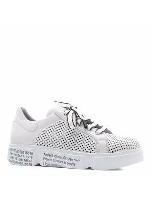 Кросівки білі з логотипом | 5736057