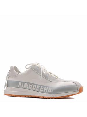 Кросівки кремового кольору з логотипом | 5736160