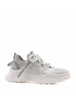 Кросівки білі з логотипом | 5735748