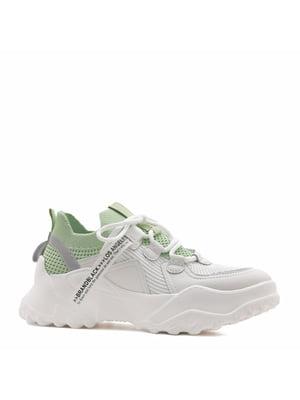 Кросівки білі з логотипом | 5735749