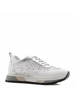 Кросівки білі з декором | 5736134