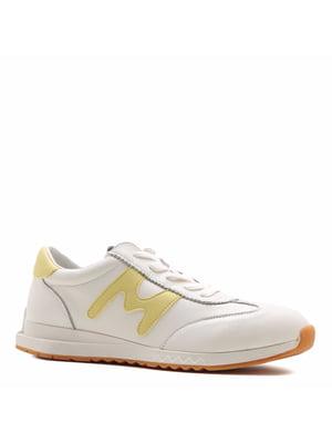 Кросівки кремового кольору з логотипом | 5736163