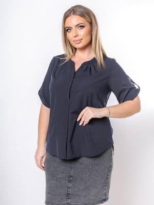 Блуза черная в принт | 5736537