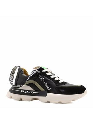 Кросівки чорні з логотипом | 5736625