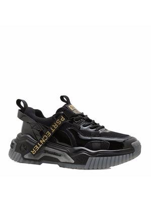 Кросівки чорні з логотипом | 5736632