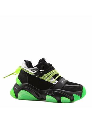 Кросівки чорні з логотипом | 5736634