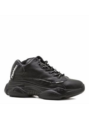 Кросівки чорні з логотипом | 5736635