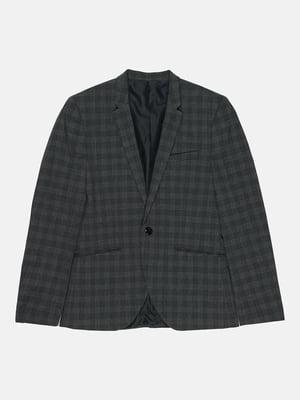 Пиджак темно-серый в клетку | 5711433