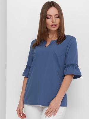 Блуза синяя | 5735357