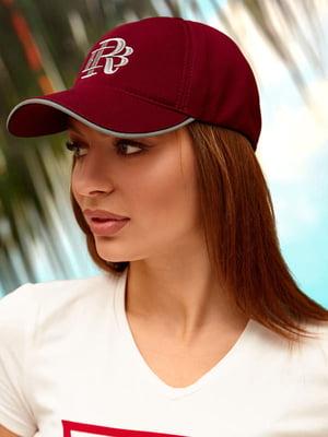 Бейсболка бордовая с логотипом | 5737067