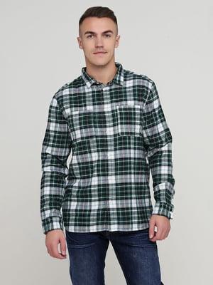 Рубашка зеленая в клетку | 5739009