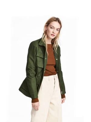 Куртка кольору хакі | 5739045