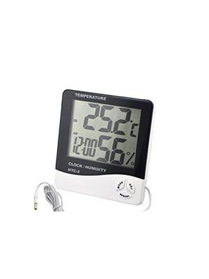 Цифровой термометр, часы, гигрометр с проводдом | 5738074