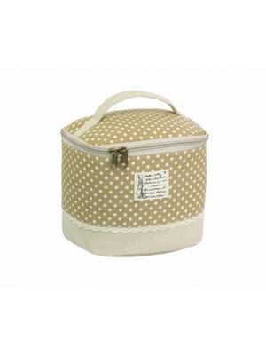 Косметичка-сумочка светло-коричневая | 5738078
