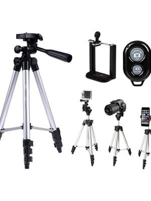 Штатив-трипод для телефона, камеры, фотоаппарата с Bluetooth кнопкой DK-3888 | 5738256