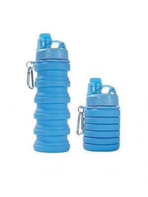 Бутылка складная силиконовая с карабином (500 мл) | 5738290