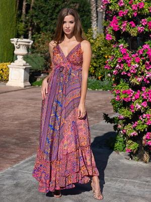 Сарафан розовый с орнаментом | 5740056