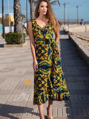 Платье разноцветное в принт   5740150