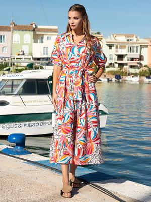 Платье разноцветное в принт   5740171