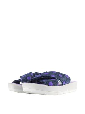 Тапочки фіолетові в горошок | 5740595