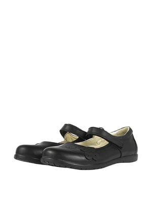 Туфли черные с декором   5740557