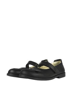 Туфли черные с декором | 5740514
