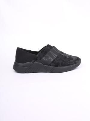 Кроссовки черные с камуфляжным узором и логотипом | 5731651