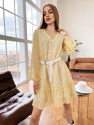 Сукня жовта у принт | 5741764