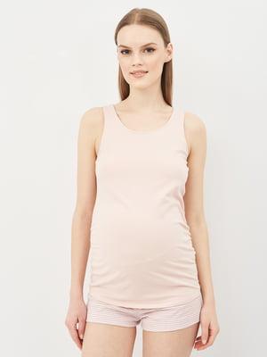 Майка для вагітних пудрового кольору   5741023