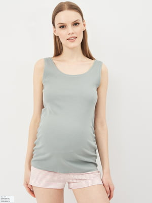 Майка для вагітних світло-сіра | 5741345