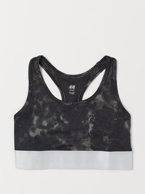 Топ спортивный черно-серый | 5741558