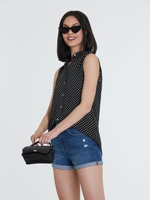 Блуза черная в горошек   5741304