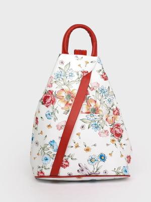 Рюкзак белый в принт | 5741442