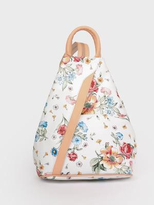 Рюкзак белый в принт | 5741443