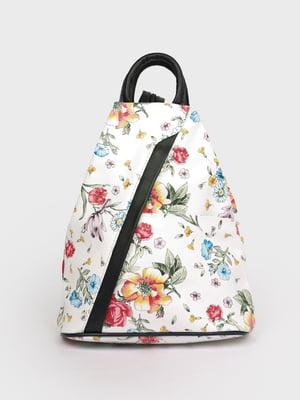 Рюкзак белый в принт | 5741444