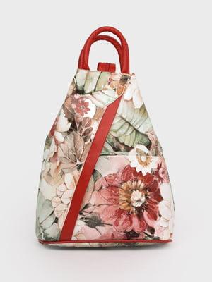 Рюкзак разноцветный в принт | 5741449