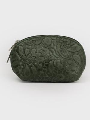 Косметичка темно-зеленая | 5741469