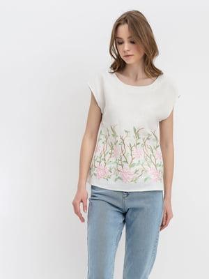 Блуза молочного цвета   4177904