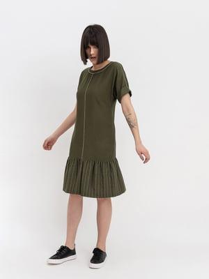 Платье цвета хаки   4224130