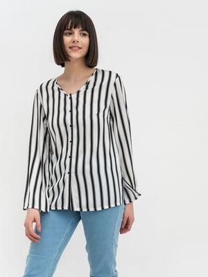 Блуза молочного кольору в смужку | 5115740