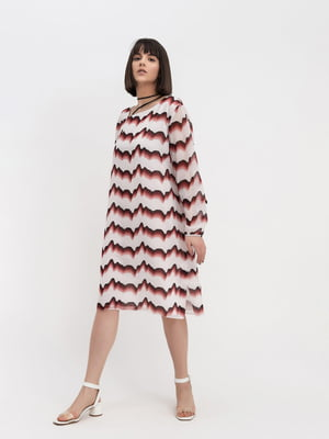 Сукня біла в смужку | 5115937
